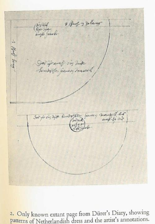 pattern from Durer's diary